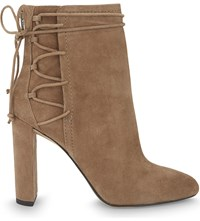 Aldo Taessa Suede Ankle Boots Taupe