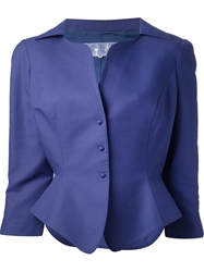 Thierry Mugler Vintage Classic Two Piece Suit Pink And Purple