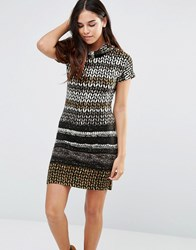 Pussycat London Midi Dress With High Neck Multi