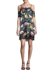 Delfi Collective Jane Floral Lace Trim Dress Multi