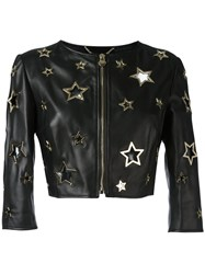 Philipp Plein Bolero Pelle Cannot Jacket Black