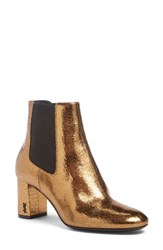 Saint Laurent Women's Loulou Bootie Bronze
