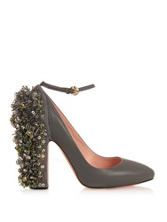 Rochas Embellished Leather Pumps