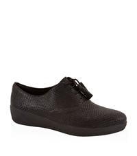 Fitflop Tassel Superox Oxford Shoes Female Black
