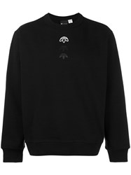 Adidas Originals By Alexander Wang Logo Sweatshirt Unisex Cotton S Black