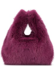 Simonetta Ravizza Mini Furrissima Tote Bag Purple