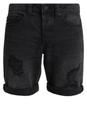 Only And Sons Onsweft Denim Shorts Black