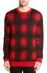 Obey Men's Backside Plaid Sweater