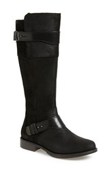 Women's Ugg Australia 'Dayle' Tall Motorcycle Boot Black Leather