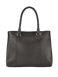 Liebeskind Solid Leather Tote Black
