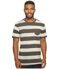 Reef Stripe It Crew Shirt Black Men's Short Sleeve Knit