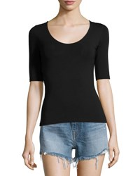 Alexander Wang Stretch Jersey Open Back Tee Black