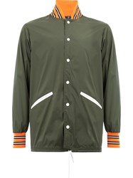 Herno Drawstring Reversible Bomber Jacket Green