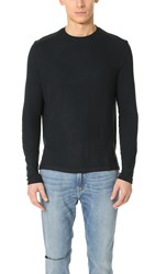 Ovadia And Sons Thermal Patch Long Sleeve Tee Black