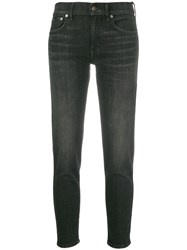 Polo Ralph Lauren Cropped Skinny Jeans Black