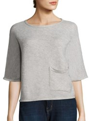 Current Elliott Painter Sweatshirt Tee Light Heather Grey