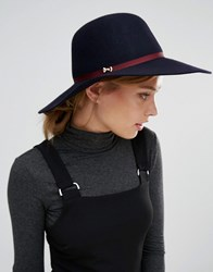 Ted Baker Floppy Wool Hat Navy