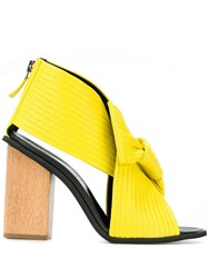 Christian Wijnants Heeled Ante Sandals Yellow