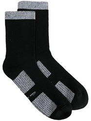Rick Owens Contrast Trim Ankle Socks Men Virgin Wool I Black