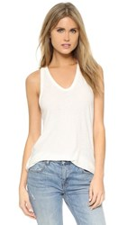 Alexander Wang T By Slubbed Classic Tank Ivory