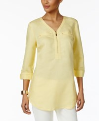 Jm Collection Zipper Front Tunic Only At Macy's Straw Hat