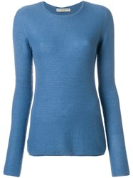 Holland And Holland Small Waffle Jumper Blue