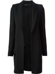 Anthony Vaccarello Classic Single Breasted Coat Black