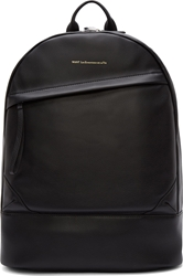 Want Les Essentiels Black Leather Silver And Gold Kastrup Backpack