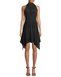 Elliatt Pisa Halter Dress W Handkerchief Hem Black