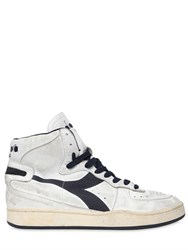 Diadora Mi Basket 84 Vintage Leather Sneakers