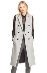 Rag And Bone Women's Rag And Bone 'Faye' Long Double Breasted Wool Blend Vest