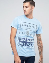 Lambretta British Flag T Shirt Blue