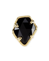 Black Opaque Glass Facet Charm Kendra Scott