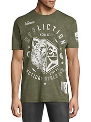 Affliction Graphic Crewneck Tee Green