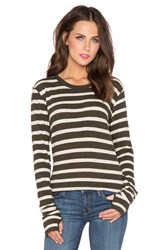 Enza Costa Cashmere Loose Long Sleeve Tee Green