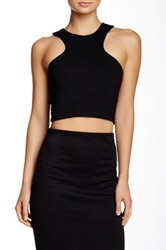Donna Mizani Racer Front Crop Top Black