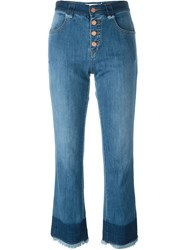 See By Chloe See By Chloe Frayed Crop Jeans Blue