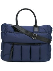 Woolrich Quilted Tote Bag Blue
