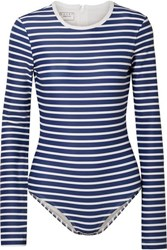 Cover Striped Swimsuit Navy