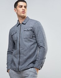Esprit Shirt Jacket In Brushed Cotton Grey 020