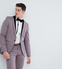 Noose And Monkey Tall Super Skinny Tuxedo Suit Jacket Purple
