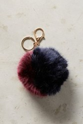 Anthropologie Fur Pom Keychain Wine