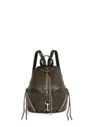 Rebecca Minkoff 'Julian' Medium Pebbled Leather Backpack Green