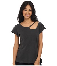 Lna Desert Crew Charcoal Women's T Shirt Gray