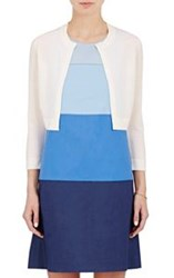 Lisa Perry Crop Cardigan White