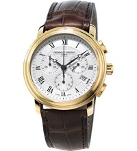 Frederique Constant Fc 292Mc4p5 Classic Gold Plated Stainless Steel And Leather Watch