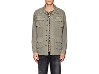 Nsf Cotton Canvas Shirt Jacket Olive