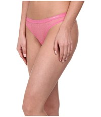 Emporio Armani Lace All Over Lace Thong Pink
