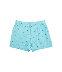 Tommy Bahama Woven Boxer Marlin Check Lagoon Water Men's Underwear Blue