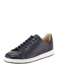 Bugatchi Como Men's Perforated Lace Up Sneaker Blue